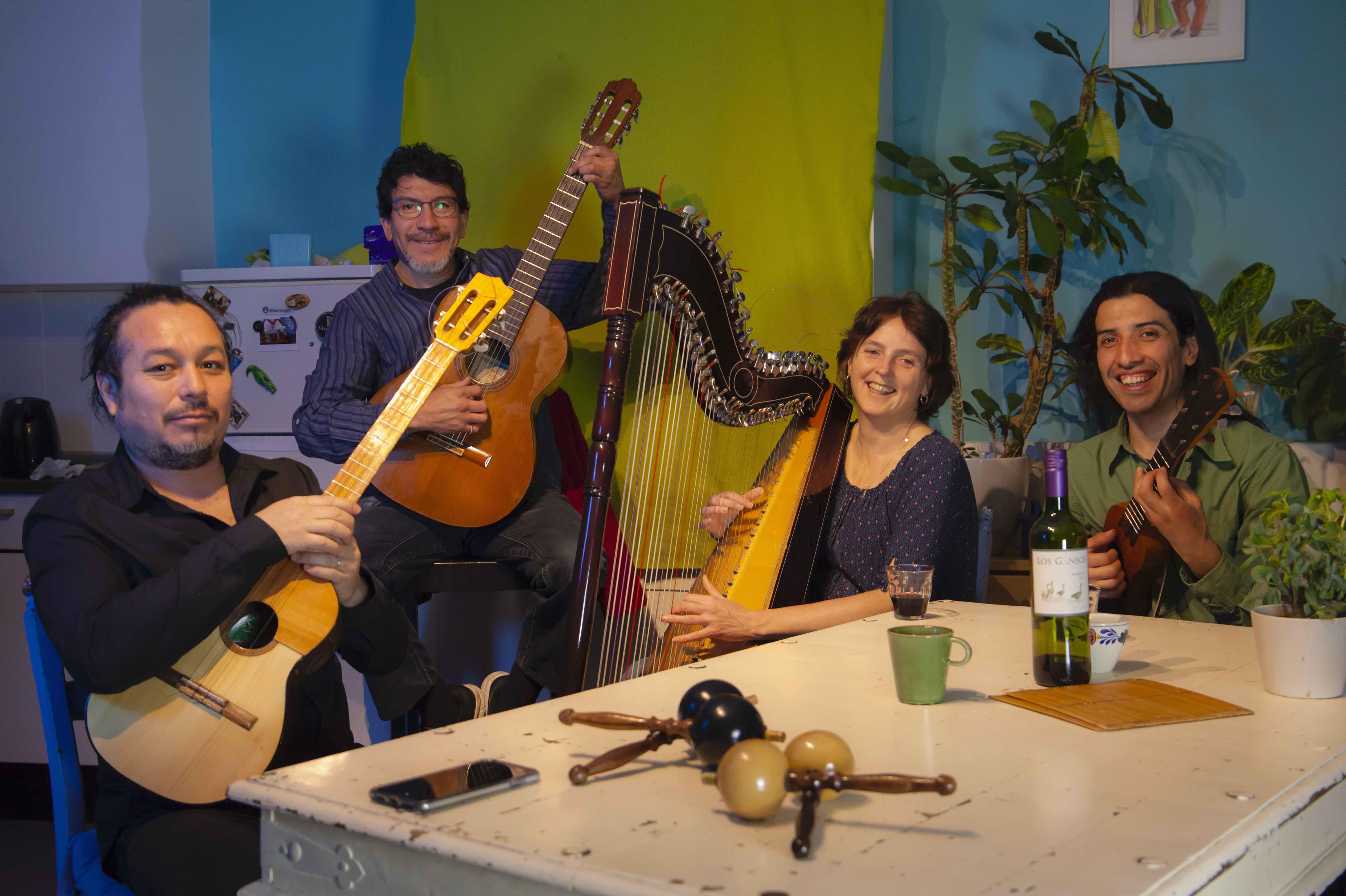 Wereldse Klanken: Kwartet Arrayán, Latijns Amerikaanse swingende harpmuziek